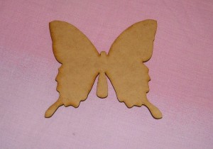 Podloga za dekupaž Leptir