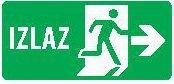 Znak evakuacije - Izlaz