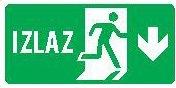 Znak evakuacije - Izlaz dole