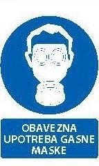 Znak Obavezna upotreba gasne maske