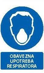Znak Obavezna upotreba respiratora