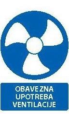 Znak Obavezna upotreba ventilacije