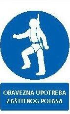 Znak Obavezna upotreba zaštitnog pojasa
