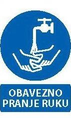Znak Obavezno pranje ruku
