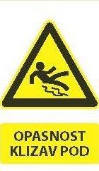 Znak Opasnosti Klizav Pod