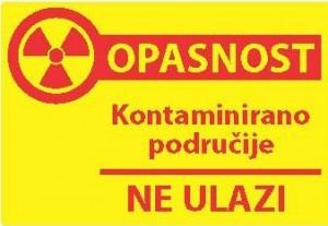 Znak opasnosti za kontaminirano područje