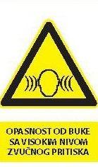 Znak Opasnost od buke