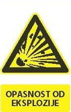 Znak Opasnost od Eksplozije