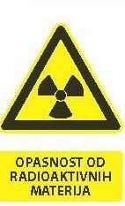 Znak Opasnosti od radioaktivnih materija