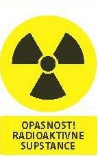 Znak opasnosti na radioaktivne supstance