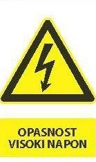 Znak Opasnosti za visoki napon