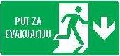 Znak Put za evakuaciju