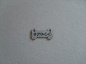 Privezak za pse sa brojem telefona vlasnika