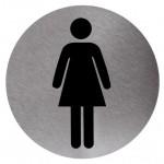 Pločica Zenski WC okruglog oblika