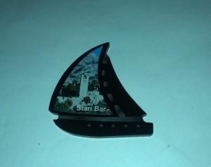 Magnet od pleksiglasa - jedrenjak